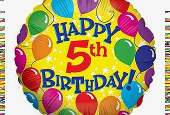 Auguri Buon Compleanno 5 Anni.Buon Compleanno Blog 5 Anni Paperblog
