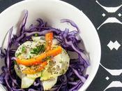 Insalata cavolo rosso cetriolo peperone cabbage salad with cucumber pepper