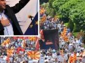 Macedonia. grande manifestazione della storia paese; 40.000 piazza contro Governo FOTO-VIDEO