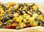 Sfogliata ortaggi grigliati ricotta Ricotta cheese roasted vegetables puff tart