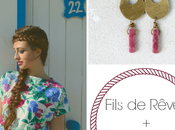 PetiteFraise Fils Rêves: style tips part Romantic flowers, pink, drop earrings, hippie chic