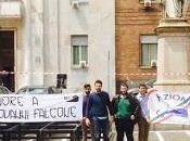 PAVIA. Ricordando Falcone, striscione Azione Universitaria