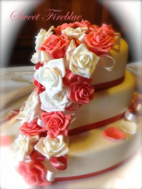 Torta cuore e rose un matrimonio in rosa paperblog for Piani domestici a forma di t