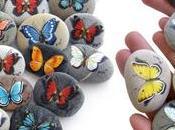 Mini farfalle dipinte sassi battesimo Celeste!