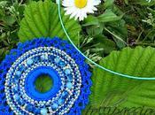 """Brick Stitch modo mio.... Ciondolo """"Mare blu"""" versioni"""