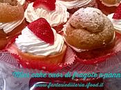 Mini cake cuor fragole panna