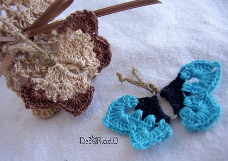 Farfalle di spago e cotone all'uncinetto, con schema e spiegazioni - Paperblog