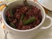 Riso rosso asparagi pecorino