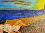 Giancarlo Stefanelli Sulla spiaggia, olio tela, 100x70