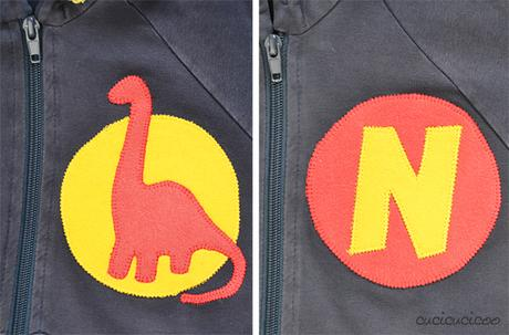 Sweatshirt embellishment with appliqué | www.cucicucicoo.com