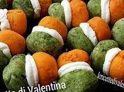 Buona festa della Repubblica!! Baci dama salati tricolore pasticceria salata cottura rosso diventato arancione...ma pensiero conta!!! questo caso anche gusto!)