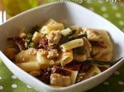Calamarata palombo asparagi allo zafferano Pasta with smoothhound, asparagus saffron