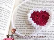 Segnalibro cuore romantico, uncinetto.