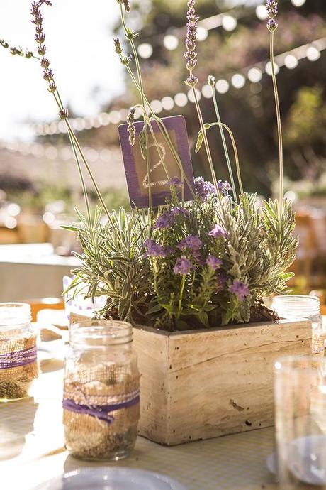 matrimonio decorazioni lavanda