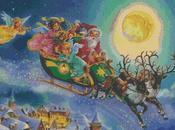 Schema punto croce: Babbo Natale sulla slitta_1