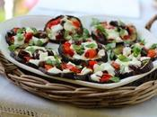 Food: melanzane forno pomodorini, olive, mozzarella bufala basilico