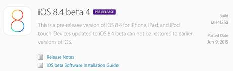 Apple rilascia agli sviluppatori iOS 8.4 beta 4 per iPhone, iPad e iPod Touch, Link Diretti al Download! [In Aggiornamento]