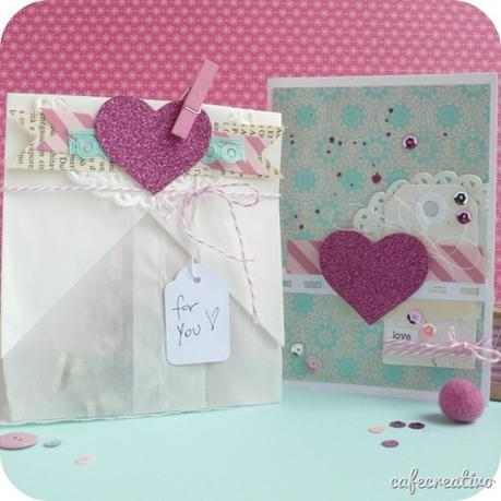 cafecreativo - sizzix big shot plus - card - gift bag packaging - love