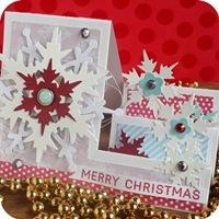 27 - sizzix big shot - christmas step card - fustelle