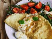 Omelette vegan agretti yogurt piccante