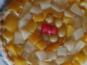 Pensieri fuori coro: crostata destrutturata frutta sciroppata crema aromatizzata all'infuso mele