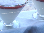 Panna cotta alla vaniglia salsa fragole.