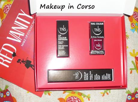 Red Vanity Make Up Collection TNS Cosmetics
