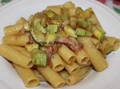 Primi: Pasta zucchine pancetta