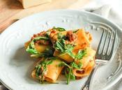 Paccheri crema Parmigiano pomodori secchi rucola Dried Tomatoes sauce arugula