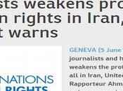 """L'ONU all'Iran: """"Liberate subito giornalisti attivisti arrestati"""". basta l'omertà Occidentale!"""