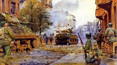 war-the-americans-the-tanks-the-city-the-ruins-devastation-soldiers-battle-sherman-street