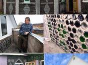 Casa costruita bottiglie vetro