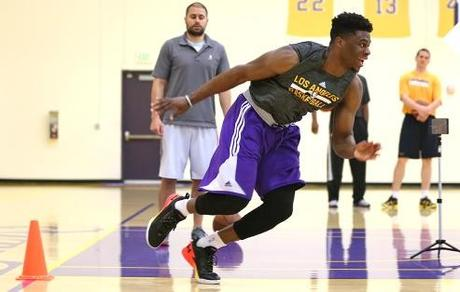 Workout Emmanuel Mudiay - © 2015 twitter.com/lakers