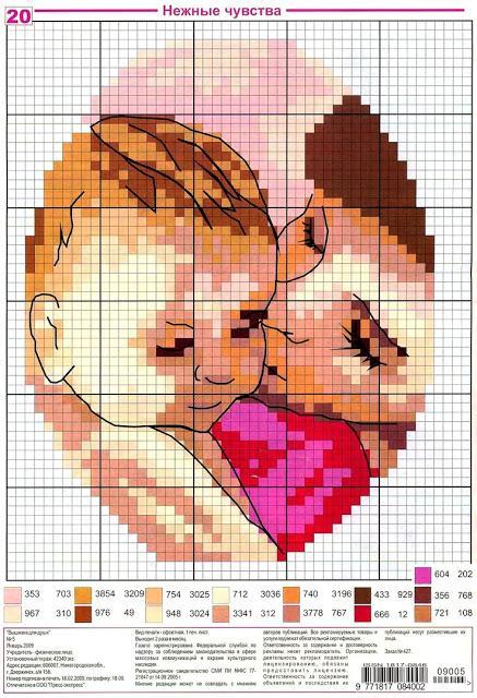Schemi di mamme e bimbi a punto croce paperblog for Punto croce bimbi schemi