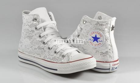 scarpe bambina converse bianche basse