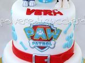 Torta decorata Patrol: personaggi Marshall Rocky tridimensionali