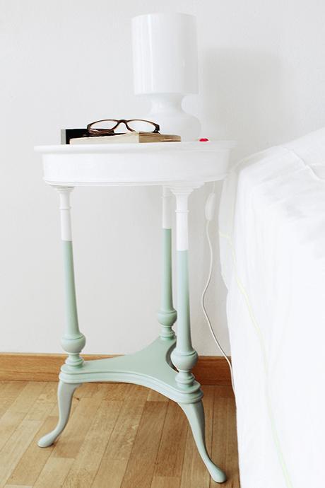 Diy comodino effetto color dipped per una camera da letto - Comodino camera da letto ...