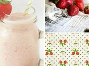 Frullato fragole Strawberry smoothie