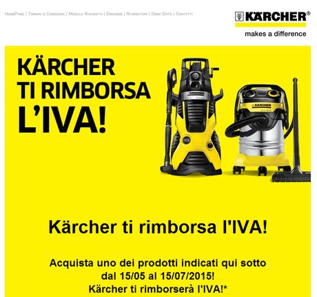 Riscopri la tua casa e il tuo giardino... Kärcher ti rimborsa l'iva!