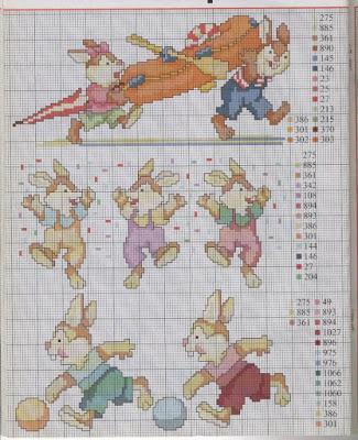 Schemi a punto croce per bambini e bambine paperblog for Schemi punto croce animali per bambini