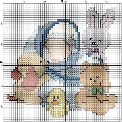 Schemi a punto croce per bambini e bambine paperblog for Schemi a punto croce per bambini
