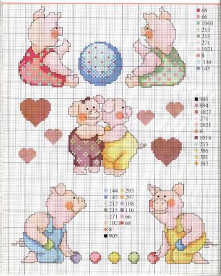 Schemi a punto croce per bambini e bambine paperblog for Ricami punto croce per neonati