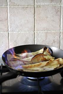 Crepes suzette all'italiana