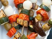 Spiedini verdure forno Grilled vegetables skewers