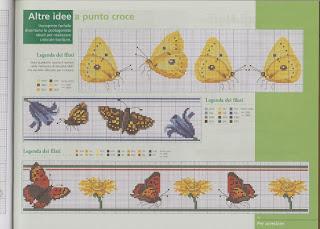 Un mare di schemi con farfalle da scaricare gratis paperblog for Farfalle da ricamare