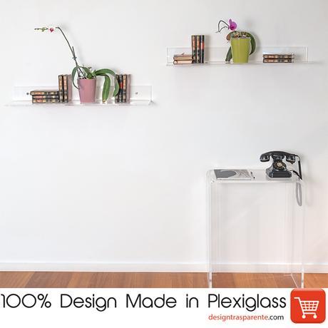 Mensole d 39 arredo design in plexiglass paperblog - Mensole bagno plexiglass ...