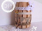 Tutorial vasetto Shabby Chic fatto gancini panni