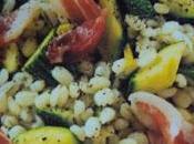 Insalata orzo, zucchine speck