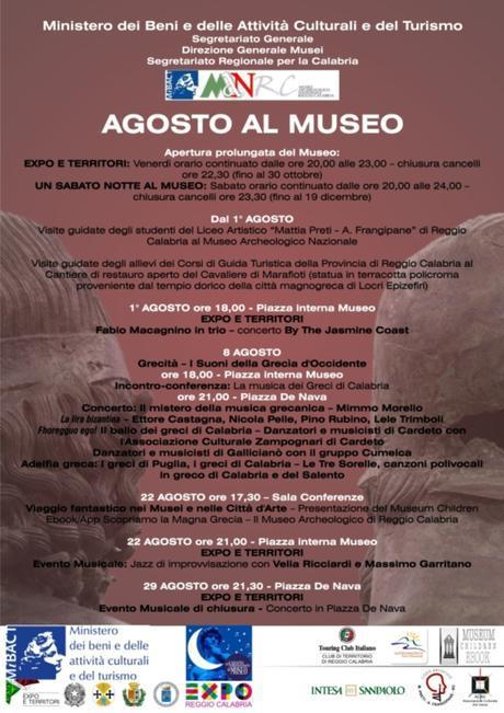 manifesto -Agosto al Museo