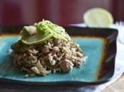 riso freddo prima partire: lime, avocado zucchini